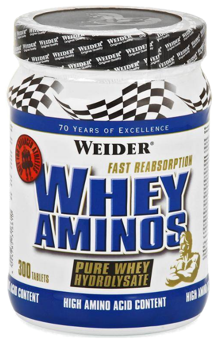 Аминокислотный комплекс Weider Whey Aminos (300 таблеток)