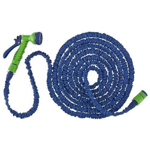 Комплект для полива Сибртех набор поливочный, растягивающийся шланг 20 метров синий шланг поливочный сибртех садовод
