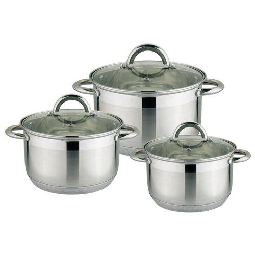 Набор кастрюль Rainstahl 1647-06RS\CW 6 пр. стальной набор посуды rainstahl 6 предметов 1616 06rs cw