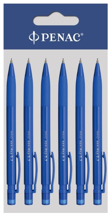 Penac Механический карандаш Non-Stop HВ, 0.7 мм, 6 шт.