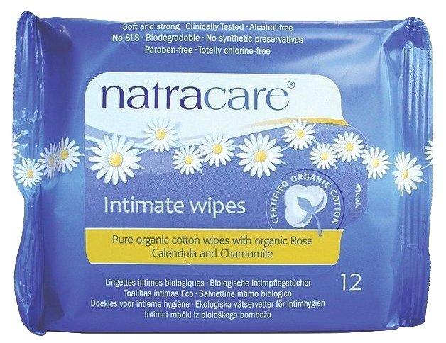 Natracare Влажные салфетки для интимной гигиены Organic