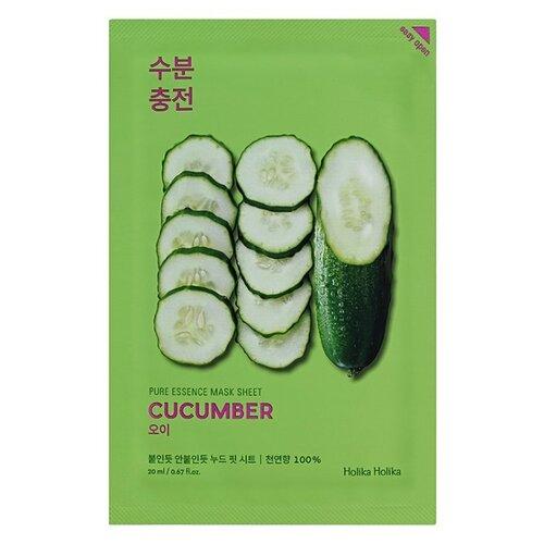 VPROVE успокаивающая тканевая маска Pure essence mask sheet cucumber, огурец, 27 г, 20 млМаски<br>