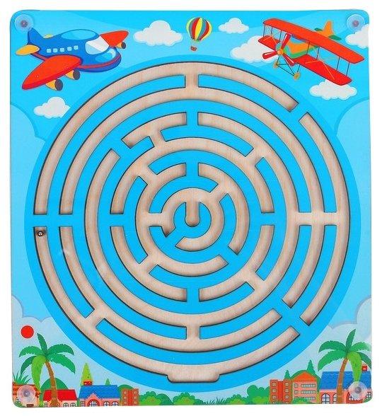 Головоломка Мастер игрушек Лабиринт с шариком В облаках (IG0194) голубой