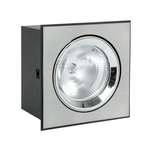 Встраиваемый светильник De Fran DAR MQ203A1-L1, сатин-никель светильник встраиваемый de fran классика gu5 3 белый