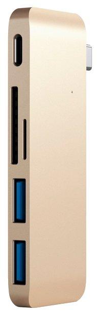 USB-концентратор Satechi Type-C Pass-Through USB Hub with USB-C Charging Port (ST-TCUP), разъемов: 3