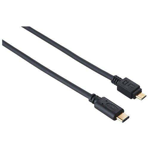 Кабель HAMA USB Type-C - microUSB (00135713) 0.75 м черный кабель usb type c microusb a data acm32in1 100cmk cbk 1 м