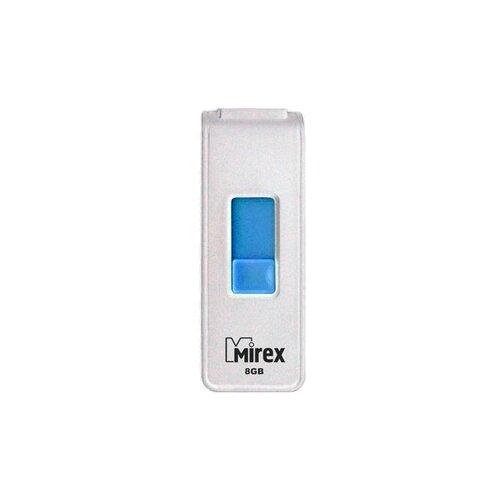 Фото - Флешка Mirex SHOT 8 GB, белый флешка mirex swivel 16 gb белый