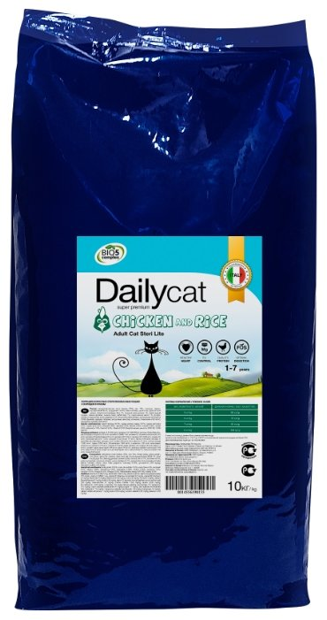 Корм для кошек DailyCat (10 кг) Adult