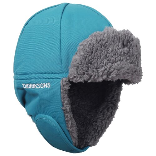 Купить Шапка-ушанка Didriksons размер 52, синий лед, Головные уборы