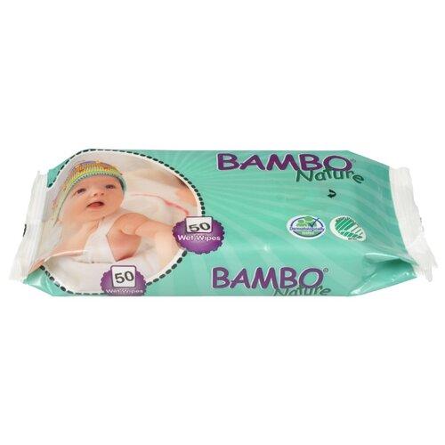 Влажные салфетки Bambo Nature Без отдушек, 50 шт.