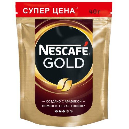 Кофе растворимый Nescafe Gold, пакет 40 гРастворимый кофе<br>