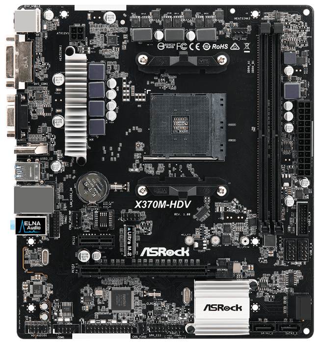 ASRock Материнская плата ASRock X370M-HDV