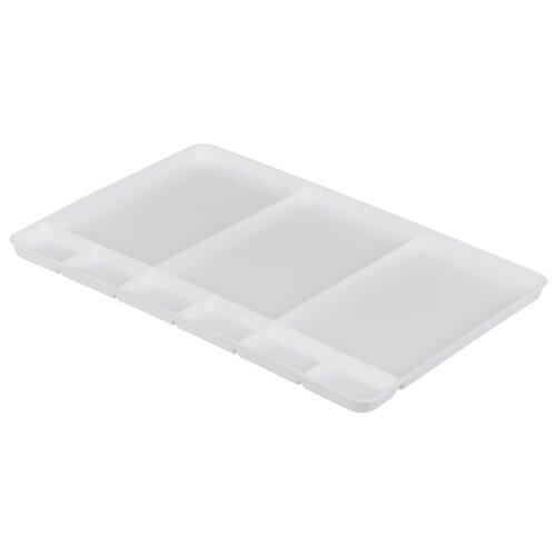 Купить Палитра Малевичъ пластиковая прямоугольная без ручки, 9 ячеек 34х23, Инструменты для рисования