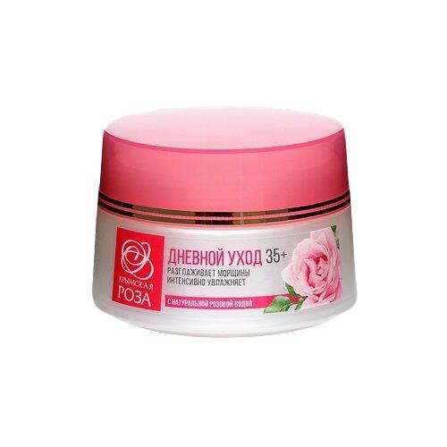 Крымская роза Крем для лица Дневной уход 35+ с натуральной розовой водой, 50 мл крымская роза lavender крем для лица отбеливающий 50 мл