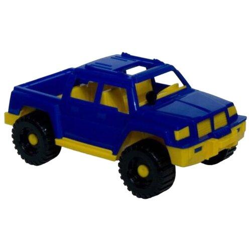 Купить Внедорожник Нордпласт Пикап Тайфун (017) 26 см синий/желтый, Машинки и техника
