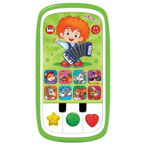 Интерактивная развивающая игрушка Азбукварик Мультиплеер с пианино. Чудесенка зеленый цена 2017