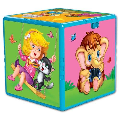 Купить Интерактивная развивающая игрушка Азбукварик Говорящий кубик. Любимые мультяшки разноцветный, Развивающие игрушки