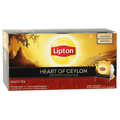 Чай черный Lipton Discovery Heart of Ceylon в пакетиках, 25 шт.Чай<br>