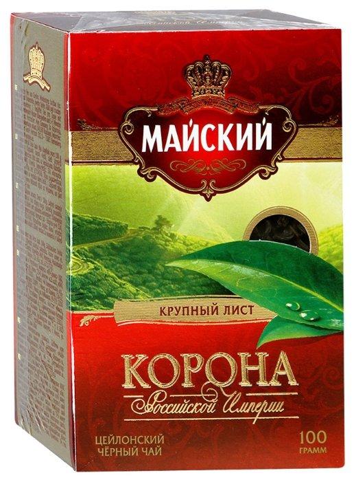 Чай черный Майский Корона Российской Империи листовой 100 г, 100 г.