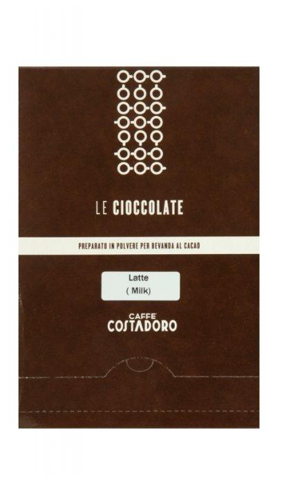 Costadoro Le Cioccolate Milk Chocolate Горячий шоколад растворимый Молочный в пакетиках, 25 шт.
