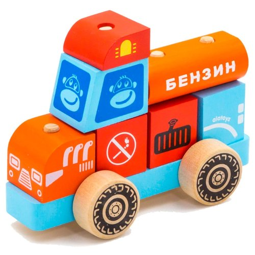 Каталка-игрушка Alatoys Бензовоз (ККМ02) красный/голубой