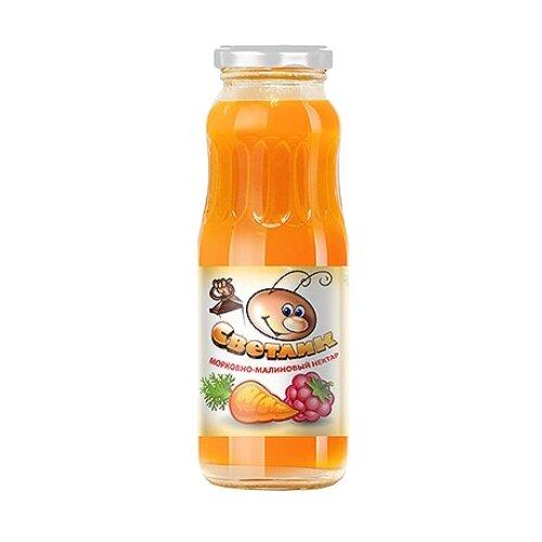 Нектар Светлик Морковь-Малина, 0.25 лСоки, нектары, морсы<br>