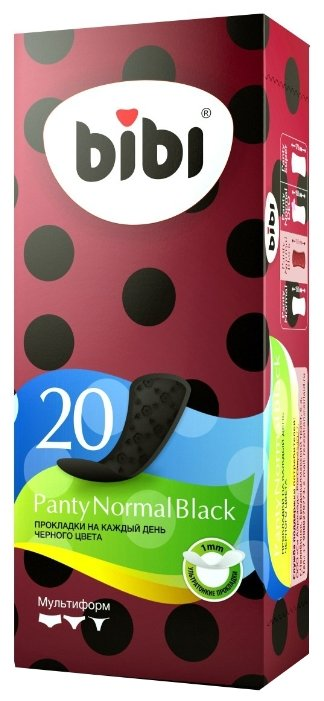 Bibi прокладки ежедневные Panty Normal Black