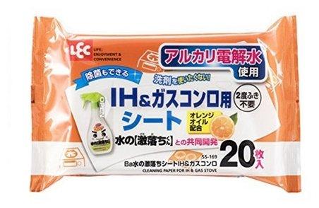 Влажные салфетки для IH и газовых плит ароматом апельсина LEC
