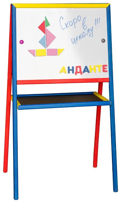 Доска для рисования детская АНДАНТЕ двусторонняя с маркером и магнитами (Д139/Д140)