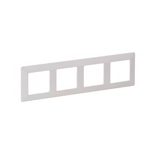 Рамка 4п Legrand Valena Life 754004, белыйРозетки, выключатели и рамки<br>