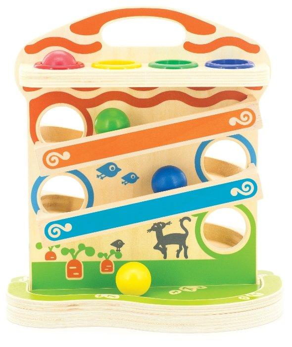 Горка Мир деревянных игрушек Горка-шарики Д102