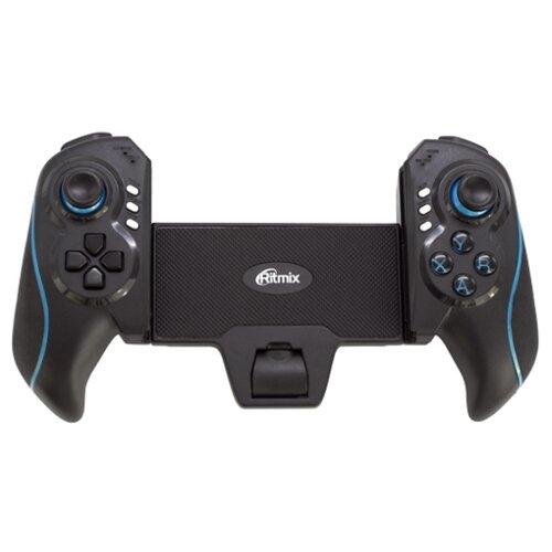 Геймпад Ritmix GP-051BTH black/blue геймпад проводной ritmix gp 035bth черный [80000202]