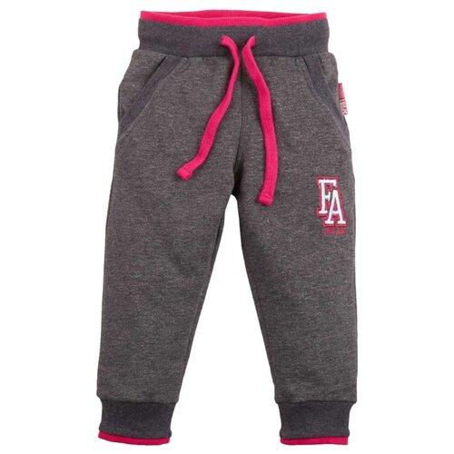 Купить Спортивные брюки Free Age размер 98, темно-серый меланж, Брюки