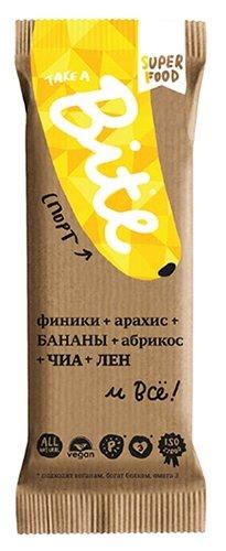 Фруктовый батончик Bite Спорт без сахара Арахис и банан, 45 г