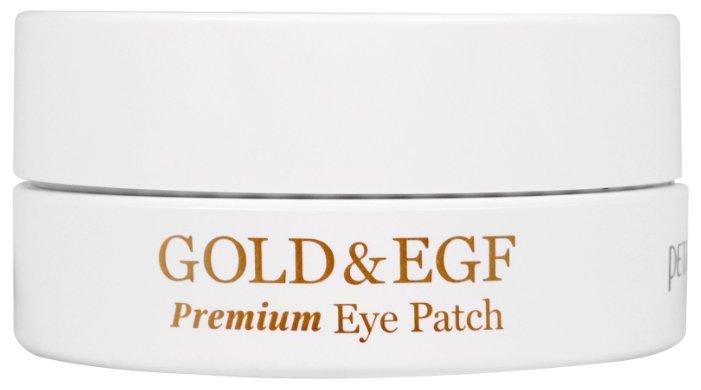 Petitfee Гидрогелевые патчи для век с золотыми частицами и фактором роста Hydrogel eye patch premium Gold & EGF