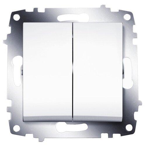 Выключатель 2х1-полюсныйвыключатель / переключатель ABB Cosmo 619-011000-202,10А, алюминиевыйРозетки, выключатели и рамки<br>