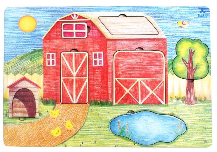 Рамка-вкладыш Мастер игрушек Дом фермера (IG0097), 7 дет.