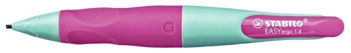 STABILO Механический карандаш Easyergo для левшей со сменными грифелями HB, 1.4 мм, 3 шт.