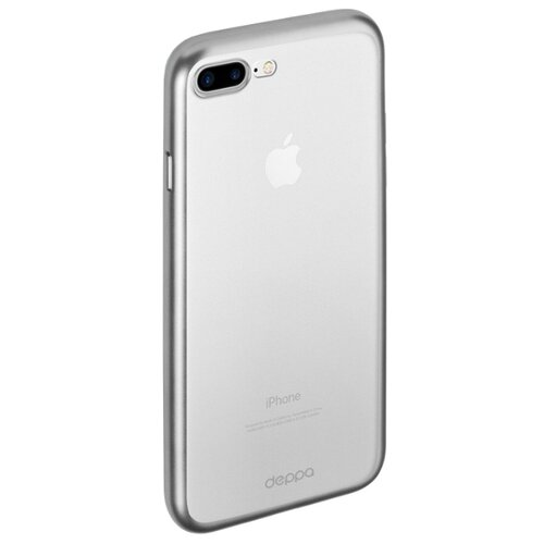 цена на Чехол Deppa Gel Plus Case (матовый) для Apple iPhone 7 Plus/iPhone 8 Plus серебряный