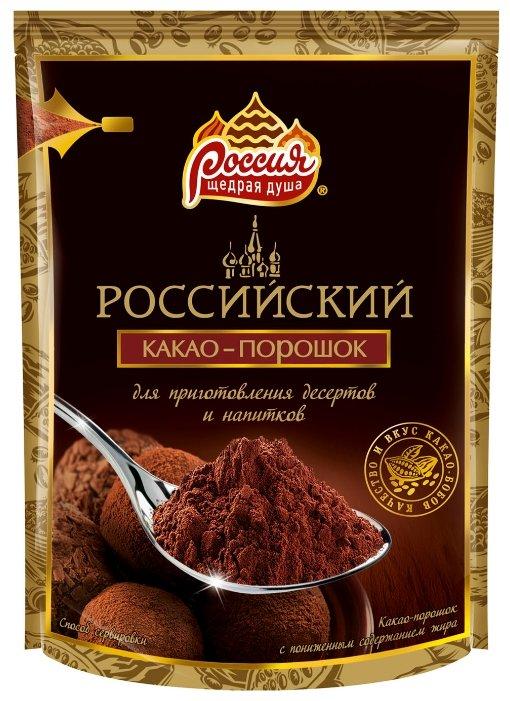 Какао Российский растворимый 100 г, 100 г.