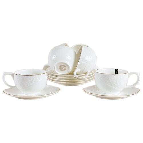 Чайный сервиз Коралл Снежная королева белый, золотойСервизы<br>