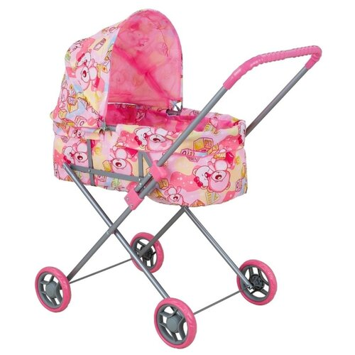 Коляска-люлька Buggy Boom Mixy (8013) светло-розовый/мишки buggy boom коляска для кукол buggy boom infinia трансформер салатовая