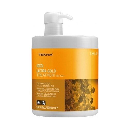 Lakme Teknia Ultra Gold Средство, освежающее цвет для золотистых оттенков волос, 1000 мл косметика lakme купить