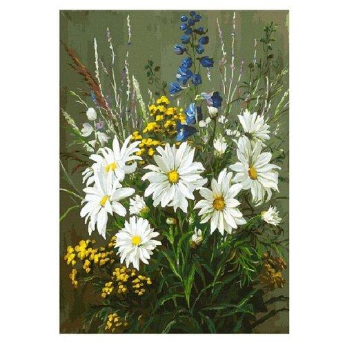 Купить Белоснежка Картина по номерам Полевые ромашки 30х40 см (131-AS), Картины по номерам и контурам