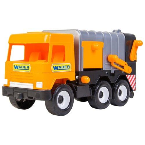 Мусоровоз Wader Middle Truck City (39312) 42 см серый/оранжевый мусоровоз wader гриптрак 37459 28 5 см