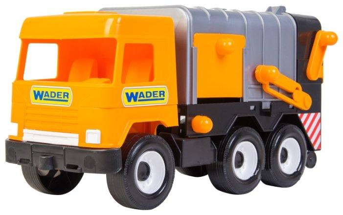 Мусоровоз Wader Middle Truck City (39312) 42 см серый/оранжевый