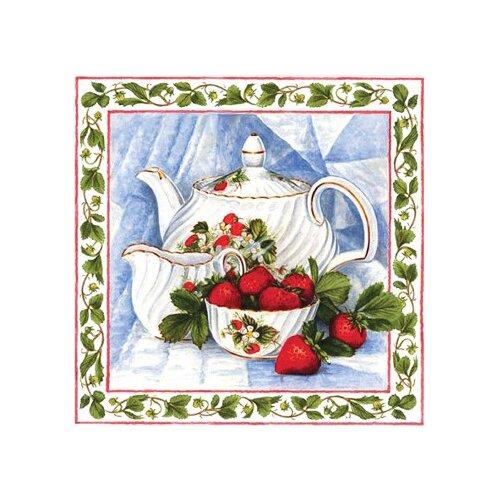 Алмазная живопись Набор алмазной вышивки Чай с клубникой (АЖ-1442) 25х25 см алмазная живопись набор алмазной вышивки персидская принцесса аж 1620 25х25 см