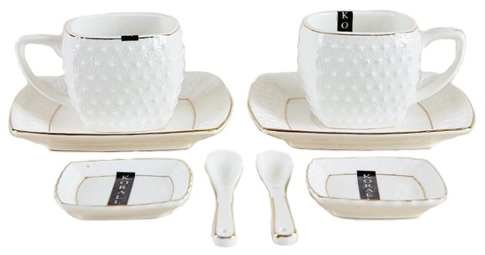 Чайный набор фарфоровый Снежная Королева 8 предметов на 2 персоны