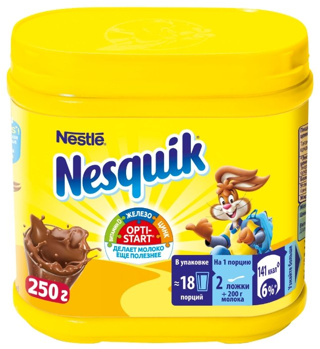 Nesquik Opti-start Какао-напиток растворимый, банка