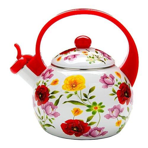 MAYER & BOCH Чайник 23865 2,2 л, белый/красный/желтый чайник greentop цвет белый желтый 2 5 л